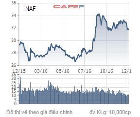 Biến động giá cổ phiếu NAF trong 1 năm qua.