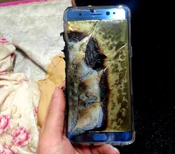 Hình ảnh chụp chiếc Note 7 nổ tại Trung Quốc