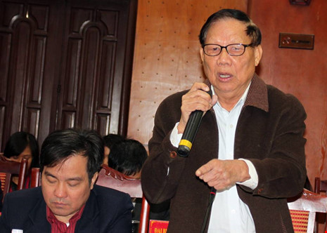 Nguyên Bộ trưởng Lê Huy Ngọ: Điện, đường, trường, trạm... cần thiết cho nông thôn mới. Ảnh: CHÂN LUẬN