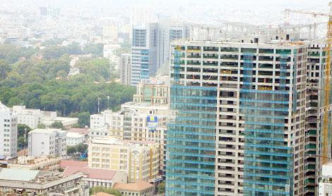 Nhà cao tầng mọc lên san sát ở khu vực trung tâm.