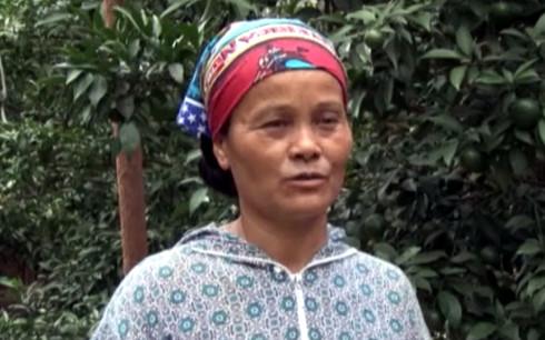Chị Đỗ Thị Tươi thành công với mô hình trồng cam và chăn nuôi cho thu nhập cao.