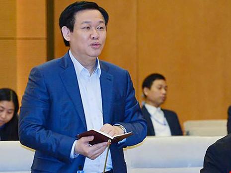 Phó Thủ tướng Vương Đình Huệ cho hay Chính phủ đang chủ động tìm kiếm nhiều giải pháp để ứng phó với những khả năng thay đổi liên quan đến TPP. Ảnh: QH