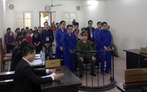Các bị cáo tại tòa sơ thẩm