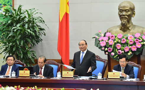 Thủ tướng Nguyễn Xuân Phúc phát biểu tại Hội nghị Chính phủ với các địa phương