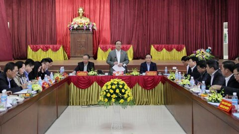Bí thư Thành ủy HN Hoàng Trung Hải làm việc với huyện Ứng Hòa sáng nay