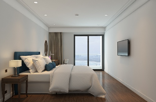 Các căn hộ được thiết kế tinh tế, lấy tối đa ánh sáng tự nhiên và tầm nhìn về phía biển.