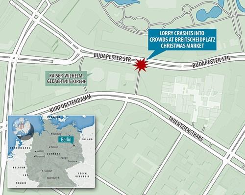 Bản đồ nơi xảy ra vụ tấn công