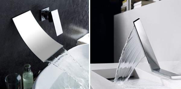 Thiết kế vòi nước chảy trông như một dòng thác.
