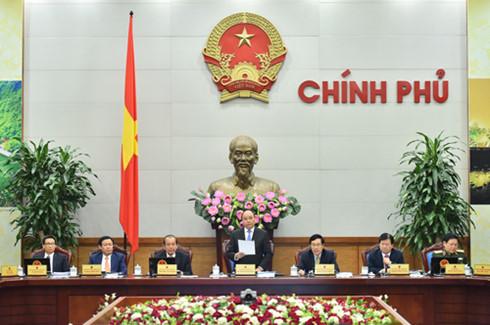 Thủ tướng Nguyễn Xuân Phúc và các Phó Thủ tướng tại phiên họp