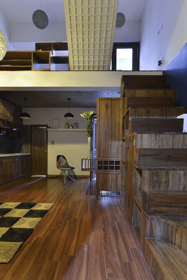 Khu bếp nấu nhìn từ bên trong.