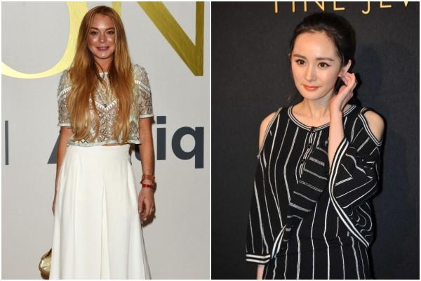 Dương Mịch bằng tuổi với Lindsay - cùng sinh năm 1986 nhưng trông hai người như một trời một vực.