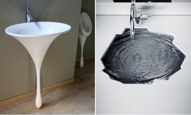 Một cảm giác vô cùng mới lạ với những mẫu nội thất phòng tắm được thiết kế hệt như giọt nước.