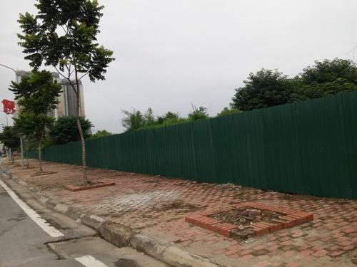Nhìn từ phía đường Châu Văn Liêm cây cối mọc um tùm xung quanh dự án.