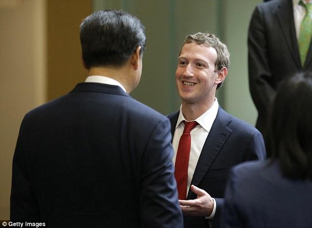 Mark Zuckerberg gặp Chủ tịch Trung Quốc Tập Cận Bình tại Seattle. Ảnh: Washington Post