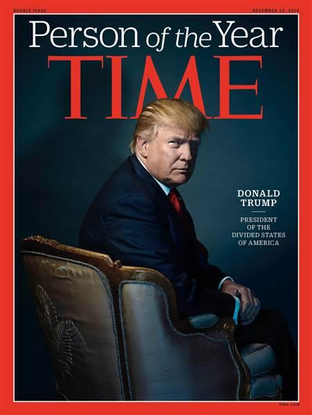 Donald Trump trở thành Nhân vật của năm. Ảnh: TIME