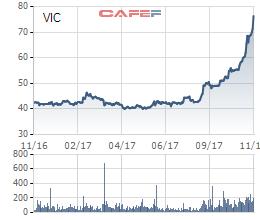 Một năm tăng giá chóng mặt của cổ phiếu VIC