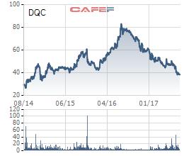 Cổ phiếu DQC mất 1/2 giá trị trong vòng 1 năm qua