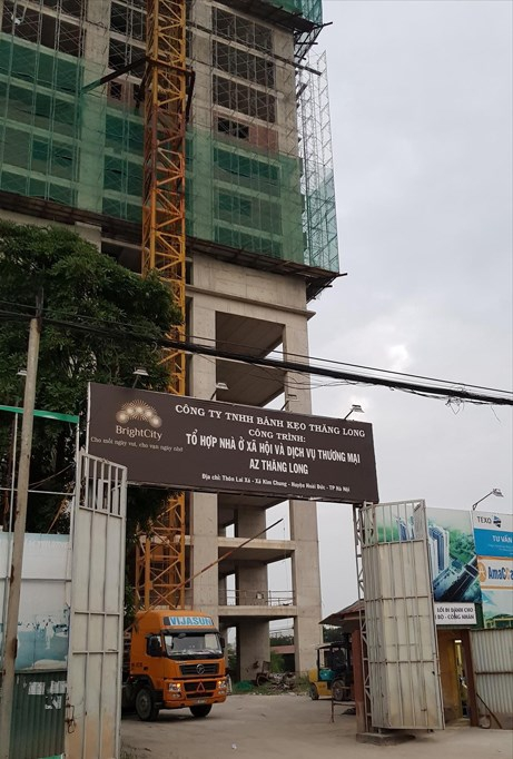 Khách hàng mua nhà tại dự án Bright City (Hoài Đức, Hà Nội) lo ngại không nhận được nhà khi dự án chậm tiến độ và đang thế chấp ngân hàng. Ảnh: N.M.