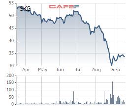 Cổ phiếu SKG lao dốc mạnh trong thời gian qua liên quan đến truy thu thuế