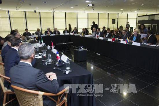 Cuộc họp các Tổng công tố về vụ bê bối ở Odebrecht ở Brasilia ngày 16/2. Ảnh: AFP/TTXVN