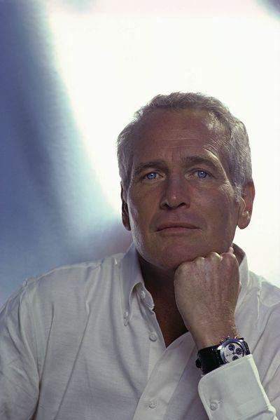 Nam diễn viên Paul Newman với chiếc đồng hồ Rolex nổi tiếng.