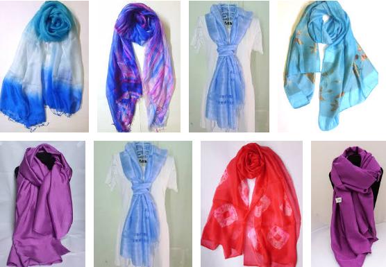 Khăn lụa tơ tằm truyền thống Việt Nam được sản xuất thủ công nên thường có màu sắc cơ bản, ít họa tiết phức tạp.