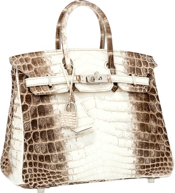 Chiếc Matte Himalayan Nilo Crocodile Birkin Bag của Hermes với chất liệu có 1-0-2 chỉ những khách hàng siêu VIP mới có thể sở hữu.