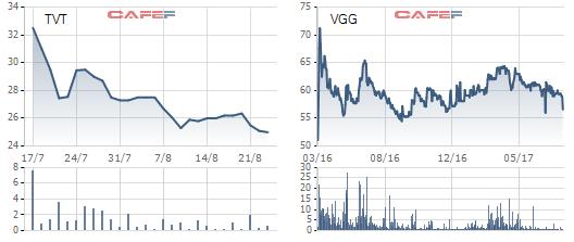 Cổ phiếu của Việt Tiến lẫn Việt Thắng chưa quyến rũ nhà đầu tư kể từ khi lên sàn