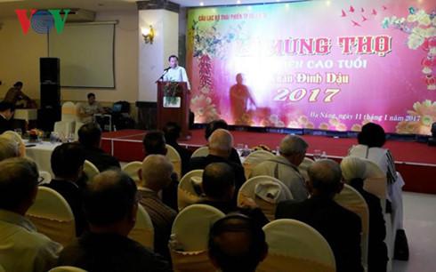 Ông Nguyễn Xuân Anh phát biểu tại Lễ mừng thọ Hội viên cao tuổi thành phố Đà Nẵng.