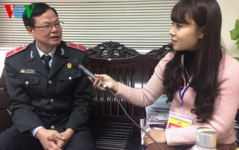 Phóng viên VOV phỏng vấn ông Phạm Trọng Đạt