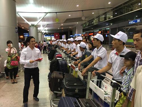 Lao động Việt Nam do Công ty Nhật Huy Khang tuyển chọn sang Nhật Bản làm việc Ảnh: Trần Duy