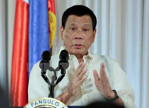 Tổng thống Philippines Rodrigo Duterte. (Nguồn: AFP/TTXVN)