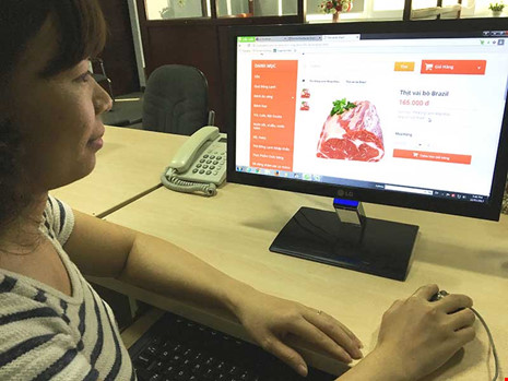 Các loại thịt nhập khẩu từ Brazil chủ yếu bán trên các trang web. Ảnh: QH