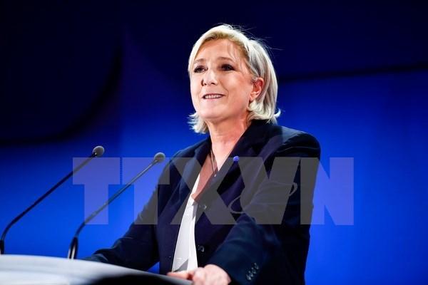 Ứng viên Tổng thống Pháp Marine Le Pen. (Nguồn: THX/ TTXVN)