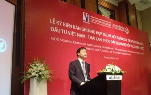 Thứ trưởng Bộ Công Thương Đỗ Thắng Hải phát biểu tại lễ ký kết