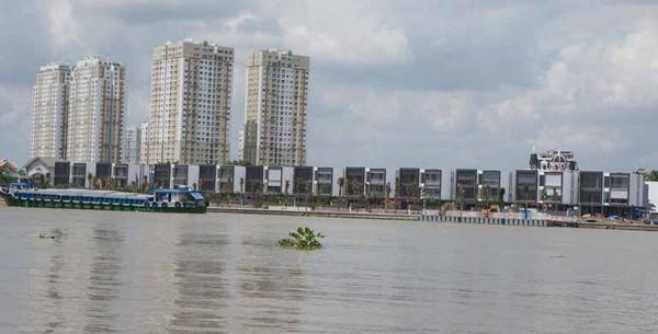 Dự án của Thảo Điền Sapphire nhìn vào từ mặt sông Sài Gòn