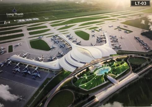 Mô hình thiết kế nhà ga sân bay Long Thành .