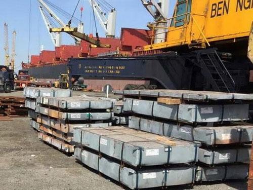 Thép cuộn trốn thuế nhập khẩu qua cảng Bến Nghé. Ảnh: Vietnamplus