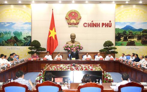 Thủ tướng Nguyễn Xuân Phúc phát biểu buổi làm việc về cải 1 vàih thủ tục hành chính