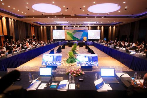 Toàn cảnh Hội nghị Bộ trưởng Doanh nghiệp nhỏ và vừa APEC lần thứ 24 diễn ngày 15-9 ở TP HCM Ảnh: Hoàng Triều