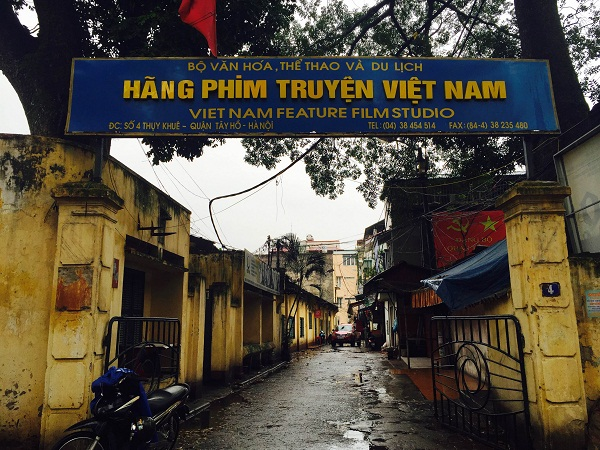 Hãng phim truyện Việt Nam tại số 4 Thụy Khuê. (Ảnh: Vietnamnet).