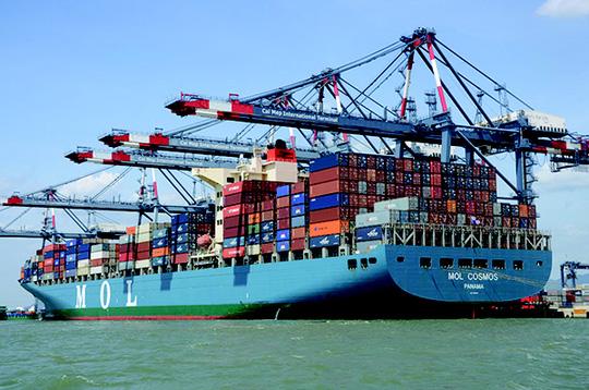 Công suất cảng Cái Mép - Thị Vải tăng lên 11 triệu TEU sau khi được mở rộng.