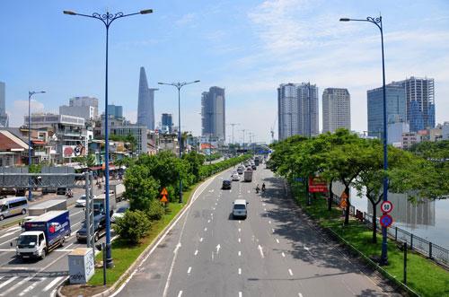 TP HCM quyết tâm thi công hệ thống giao thông thông minh đồng bộ có tốc độ phát triển kinh tế - xã hội Ảnh: Tấn Thạnh