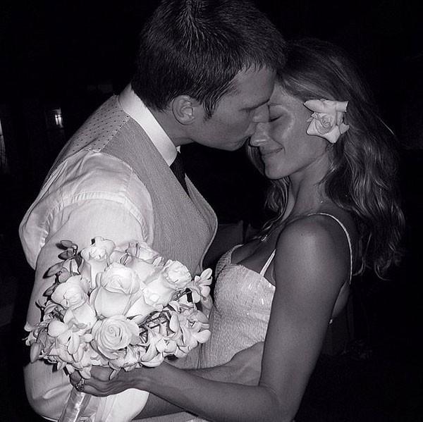 Tom Brady và Gisele Bundchen trong đám cưới vào năm 2009.