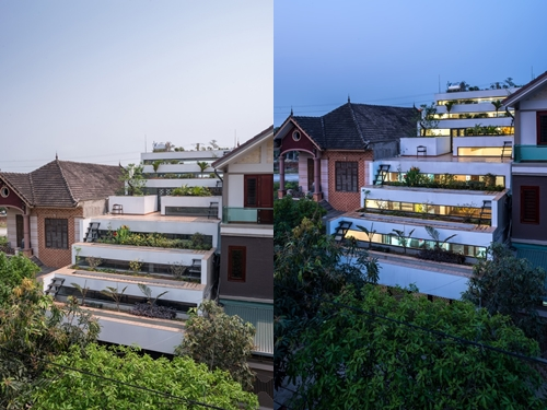 Ý tưởng xây dựng công trình này bắt nguồn từ sự kết hợp hai yếu tố đặc trưng của các vùng nông thôn Việt Nam đó là nơi ở và không gian trồng trọt.
