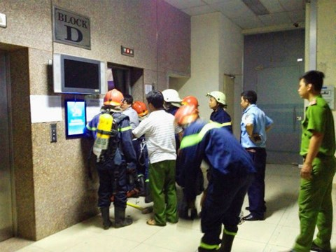 Lực lượng tính năng ở hiện trường giải cứu an toàn 14 người