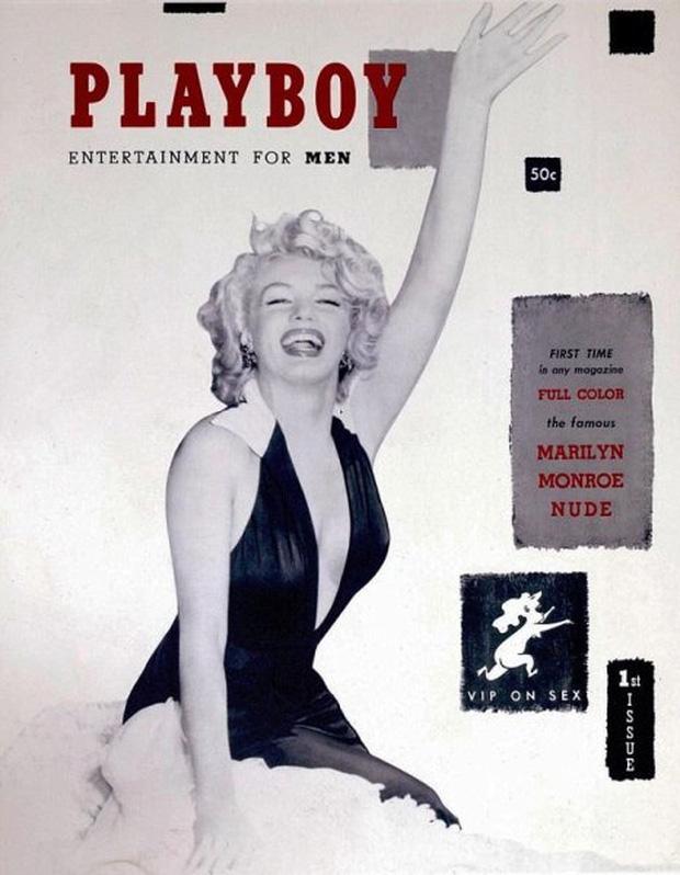 Cô đào nóng bỏng Marilyn Monroe là người mẫu ảnh trang bìa cho số đầu tiên của tạp chí Playboy.