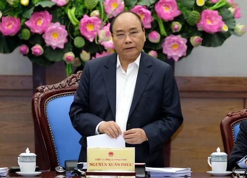 Thủ tướng nhấn mạnh 3 nội dung trọng tâm chỉ đạo điều hành năm 2018. Ảnh: VGP/Quang Hiếu
