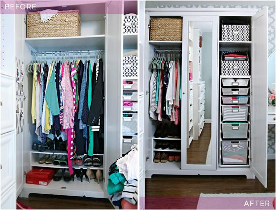 Bổ sung hộp đồ là cách để tủ quần áo gọn gàng hơn.