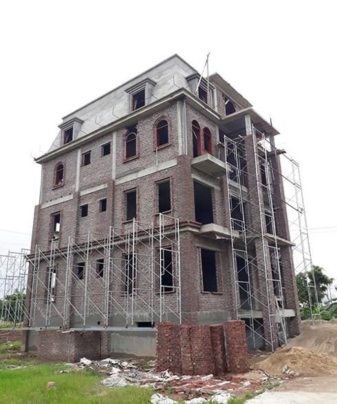 Một công trình xây dựng sai quy hoạch của Chủ đầu tư KĐTM Phú Lương, quận Hà Đông.